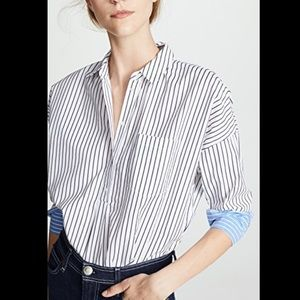 Joie Selinde Striped Button Front Top NWT